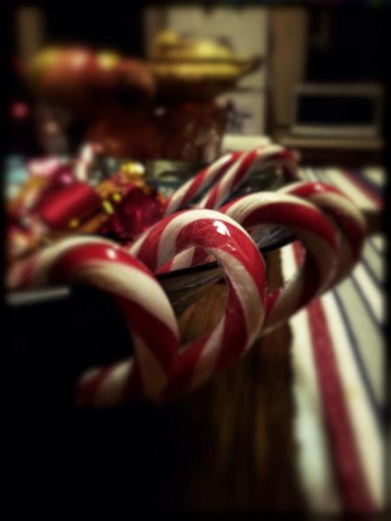 1-365 Leftover candy canes and chocolates