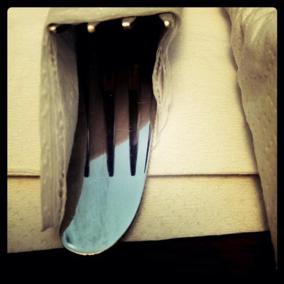 19-365 Knife & Fork Wrap for lunch. Le Petit Paradis, Margaret St, Brisbane.