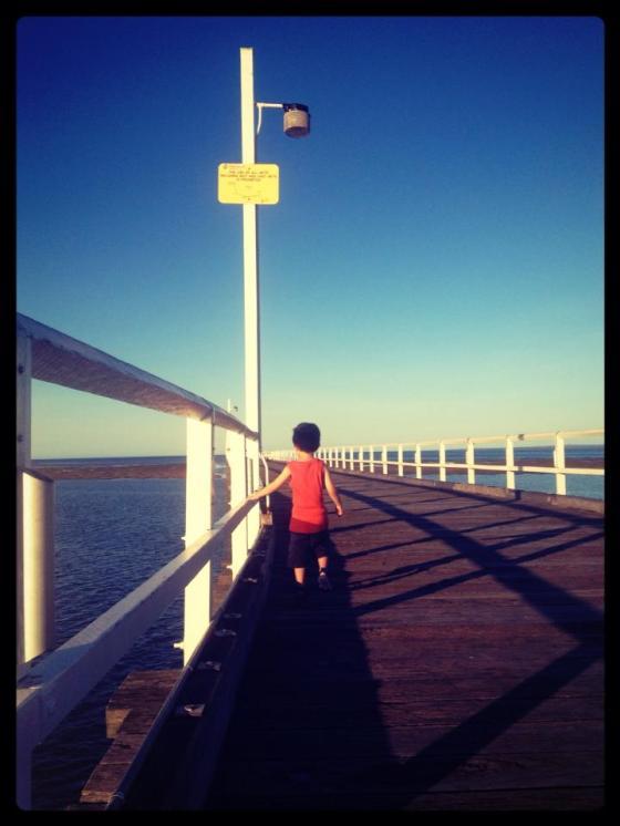 31-365Wandering child Urangan Pier, Hervey Bay, QLD