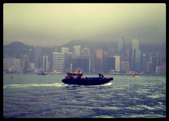60-365Hong Kong Harbour from TST Boulevard.